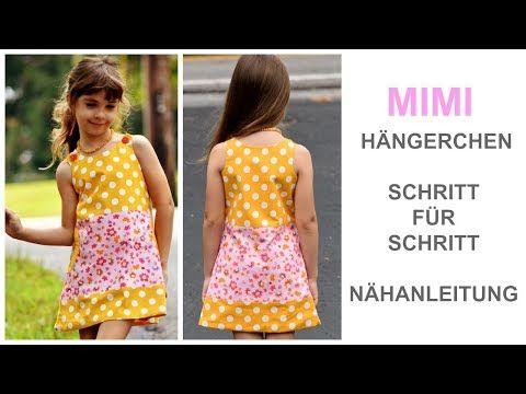 Wie man ein Kleid, Hängerchen, Hängerkleid, Kinderkleid, Mädchenkleid näht - Mimi Schnittmuster - YouTube