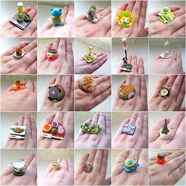 kawaii jewelry: Cute Rings, Fromjapanwithlov Japan, Japan Kawaii, Kawaii Jewelry, Kawaii Stationery, Meals Rings, Kawaii Stuff, Food Rings, Photo