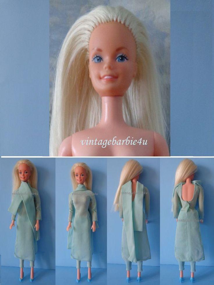 Vintage Barbie Doll #5336 Platinum Blonde European in #9969 Best Buy Blue Tunic #Mattel #DollswithClothingAccessories