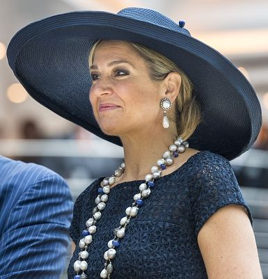 Queen Máxima of The Netherlands at the baptism of the cruise ship MS Koningsdam - 20.05.16