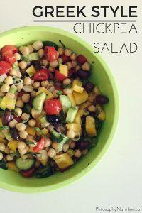 Greek Style Chickpea Salad