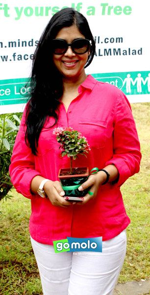 Sakshi Tanwar at a Tree Plantation event at BMC ground in Malad, Mumbai