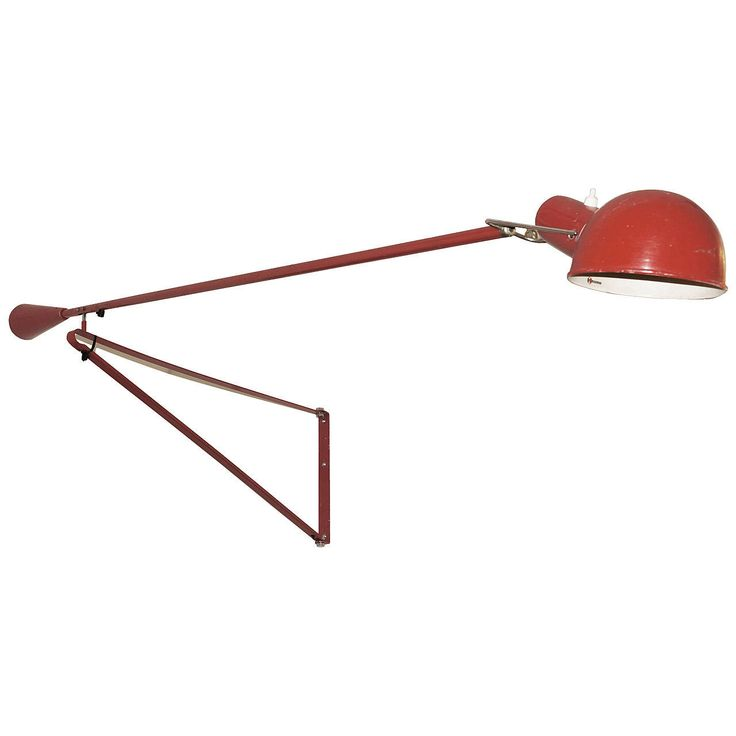 Paolo Rizzato for Arteluce Swinging Wall Lamp Model #265 | From a unique collection of antique and modern wall lights and sconces at https://www.1stdibs.com/furniture/lighting/sconces-wall-lights/