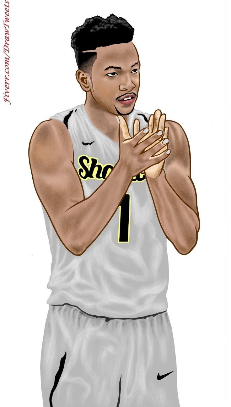 Awesome Basketball Players on Focus - An art piece inspired by the set of orders from Marlandlowe in I will hand draw cartoon avatar from your photo gig on Fiverr.com/DrawTweets. Let us draw YOU on Fiverr.com/DrawTweets #Handsome #BasketballPlayers #ontheStrike #Caricature #Art #Drawing