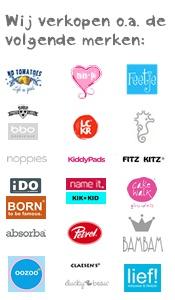 De labels die we verkopen in onze winkel & webshop.