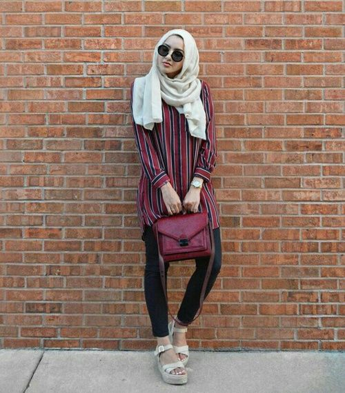 fashion and hijab by S A L M A | We Heart It
