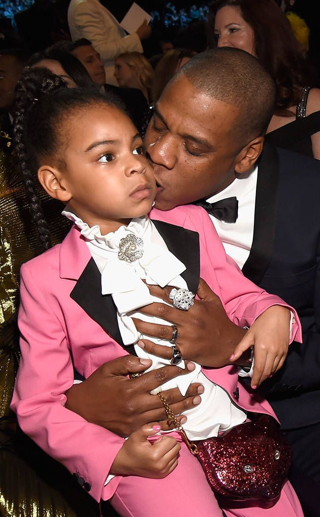 Blue Ivy Carter and proud dad Jay Z were spotted cuddling in the front row, gearing up to cheer on Beyoncé as she prepares to take the stage for her first performance since announcing the Carter-Knowles fam is growing by two.