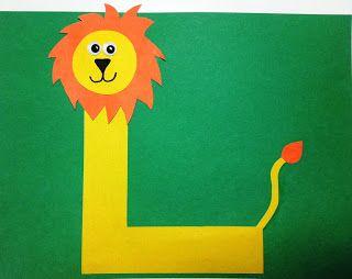 Letter L Craft. L is for Lion.