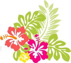 Hawaiian Flower Clip Art   Hawaii clip art - vector clip art online, royalty free & public domain