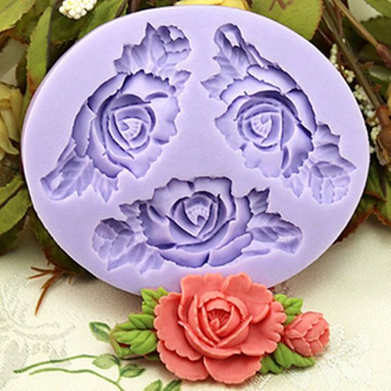 3 Cavities 6.6cm Mini Flower Sculpting Silicone Sugar Resin Craft DIY Moulds gum paste Cake Decorating Fondant Mold on Etsy, £4.35