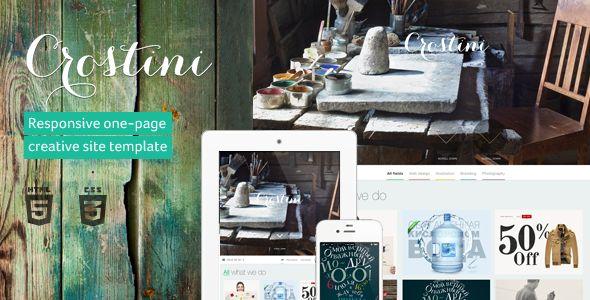 Crostini - Responsive One-page Portfolio - Portfolio Creative