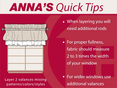 Great tip on how to spruce up your windows on a budget! #AnnasLinens #WindowValance