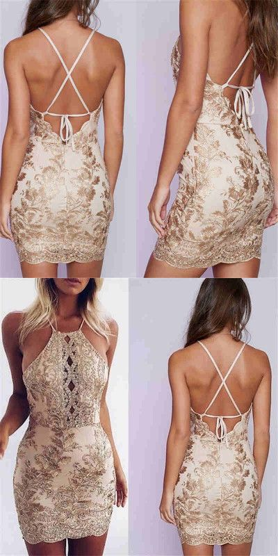 9abbf0faab2 sexy short gold party dresses homecoming dresses cocktail dresses