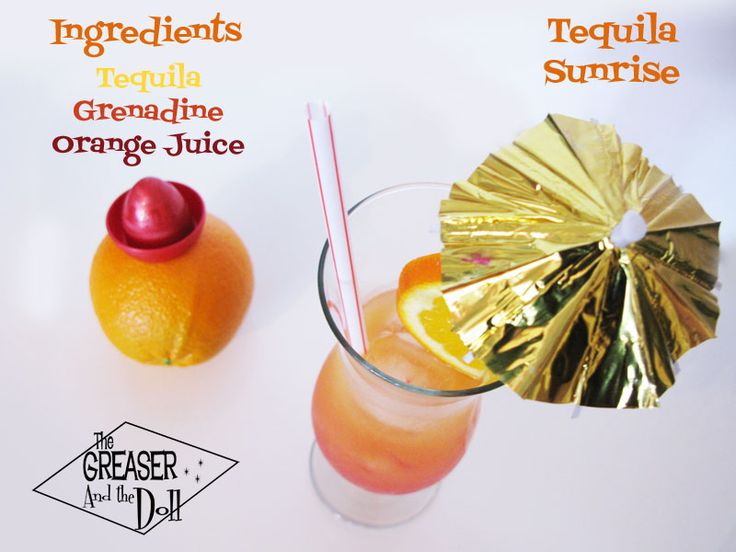 Tequila Sunrise Recipe - The Greaser and the Doll