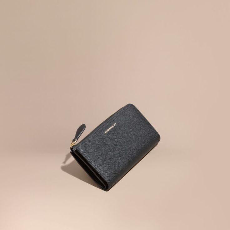 Grainy Leather Ziparound Wallet