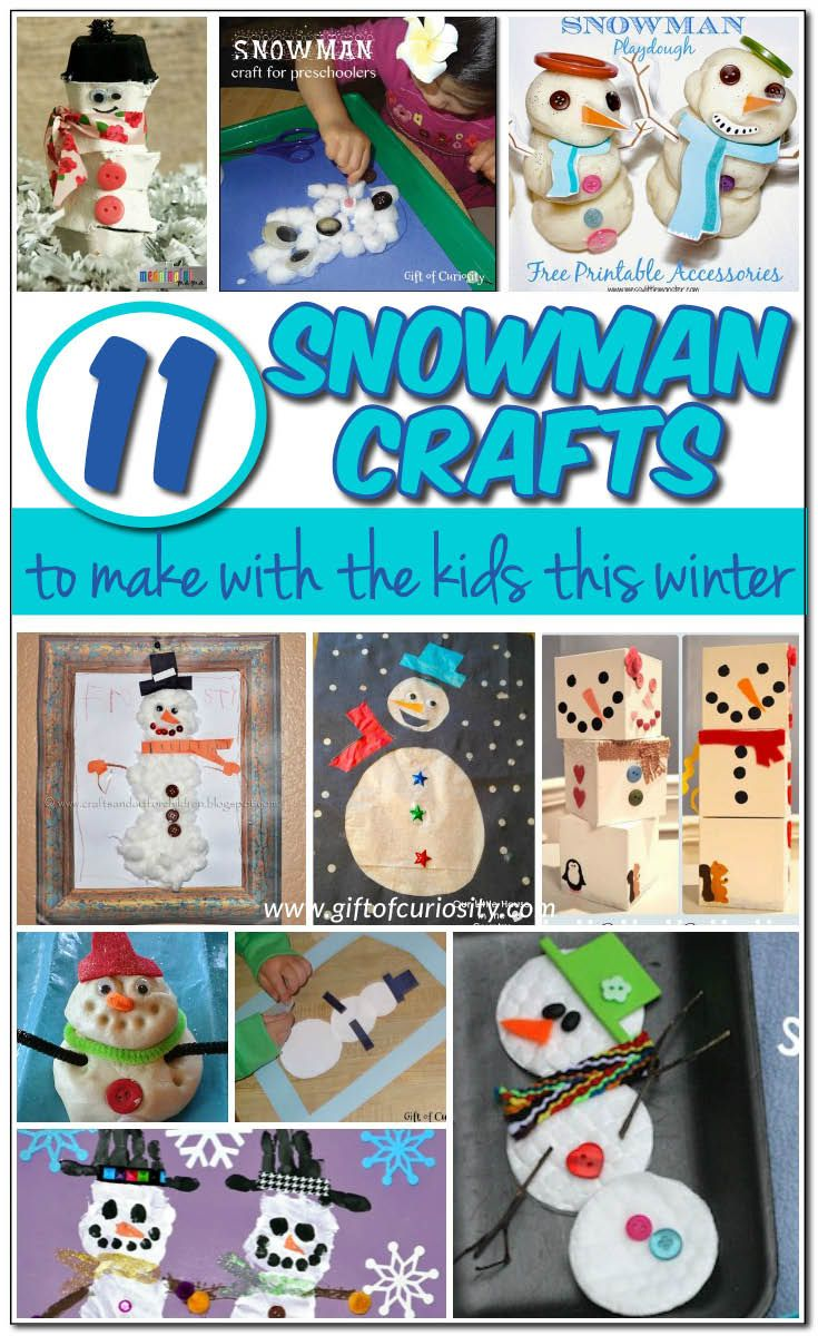 11 snowman crafts to make this winter
