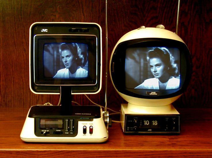 JVC 3100R Video Capsule Television/Radio (1978) and JVC VideoSphere 3241