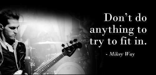 Words of wisdom from Mikey Way