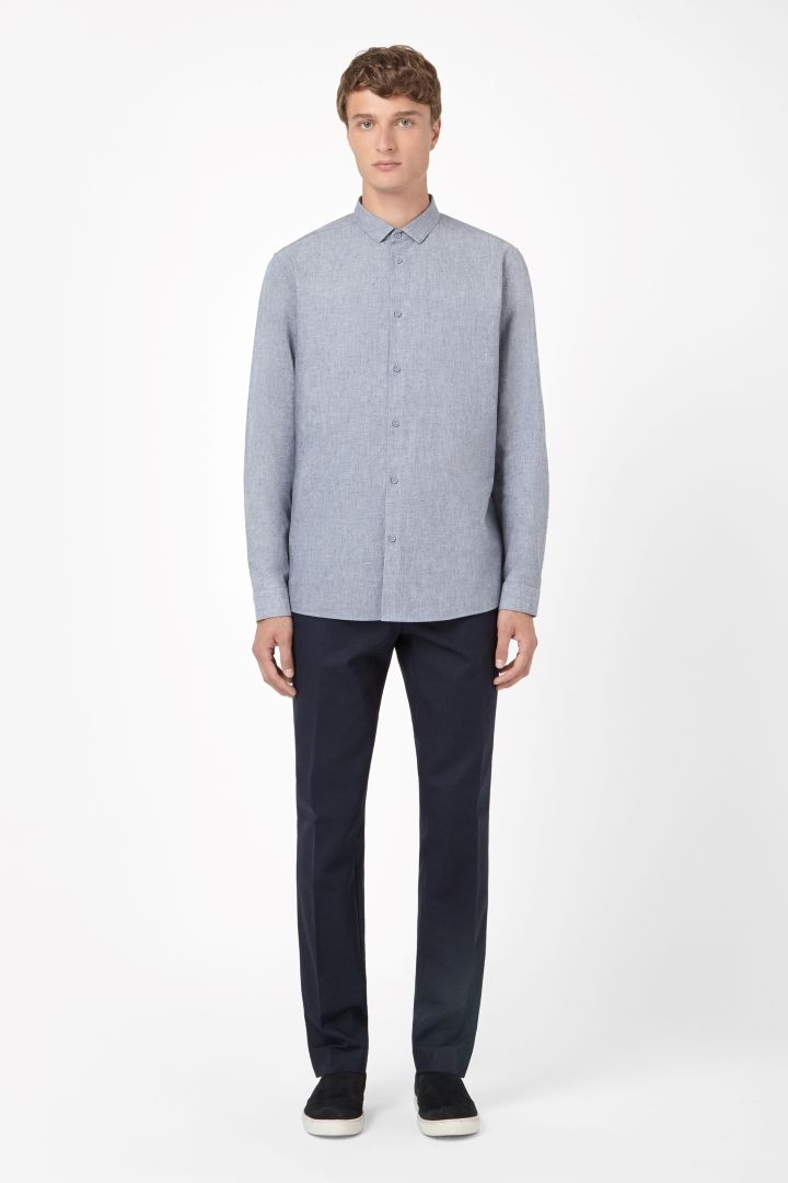 Speckled chambray shirt