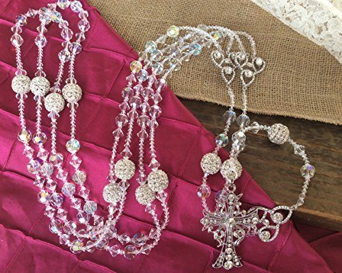 Crystal Wedding Lasso Authentic Swarovski Crystal Ab Finsh 12 Round Cut, Lazo Para Boda, Wedding Rosary, Laso, Mancuerna