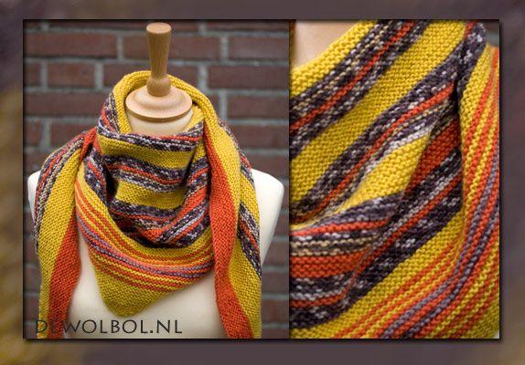 Breipatroon sjaal Autumn glow, gratis patroon | de wolbol