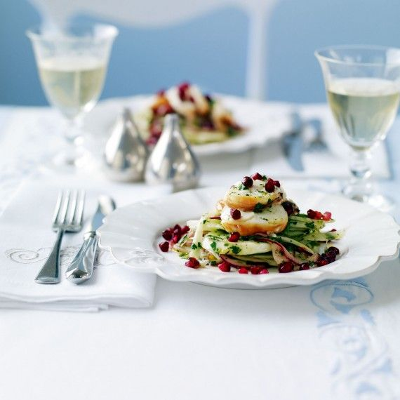 "Fennel and lobster salad with pomegranate recipe  We could make this with ""pomegranate caviar"""
