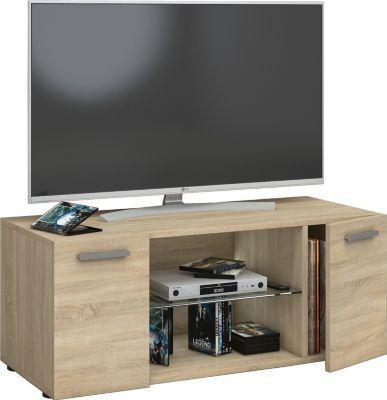 Best VCM TV Lowboard Fernsehtisch Schrank M bel Tisch Holz Sideboard Medienrack Rack Fernsehbank Lowina