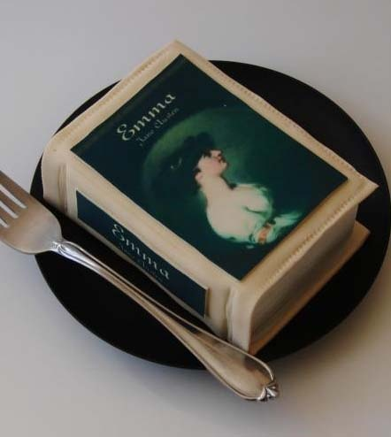 book cake- AMAZING! A great idea for a private reading party or book club...
