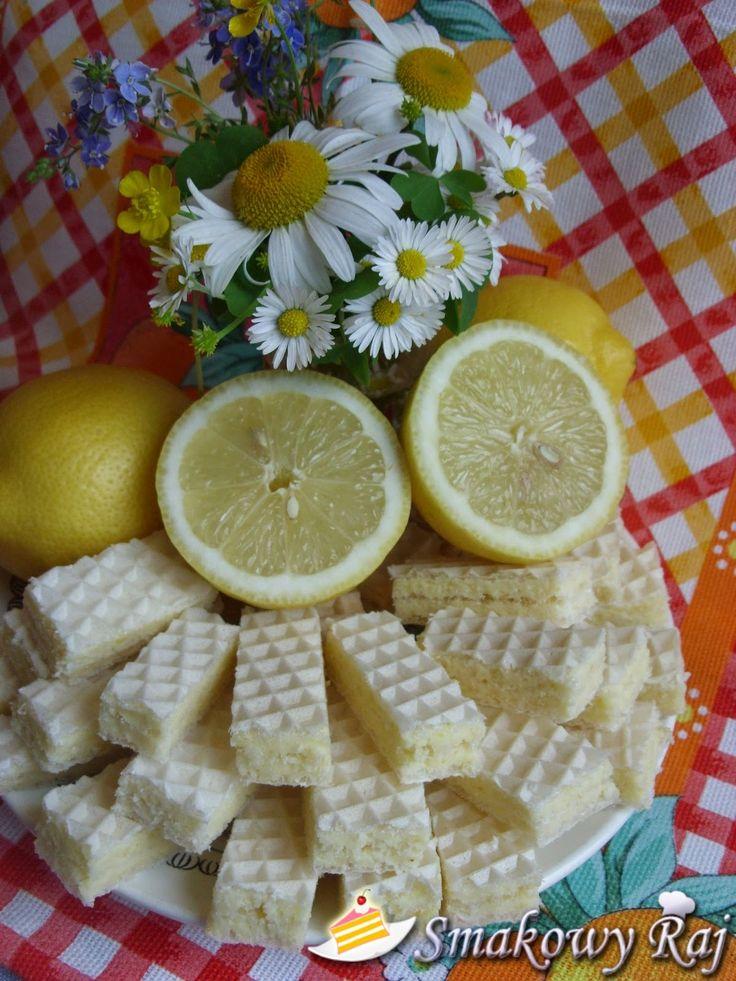 Smakowy Raj - blog kulinarny: Wafelki cytrynowe
