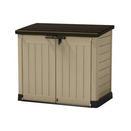Storage Box Shed Outdoor Patio Deck Garden Container Plastic Organizer Garage #Keter