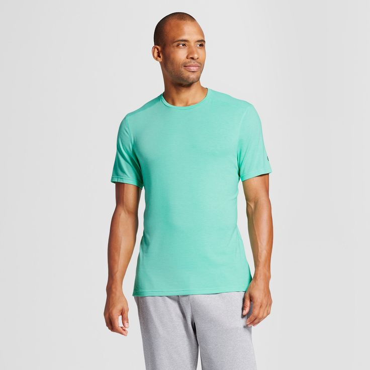 Men's Modern Train Short Sleeve T-Shirt - C9 Champion Emerald Gem Green Heather Xxl, Emerald Green