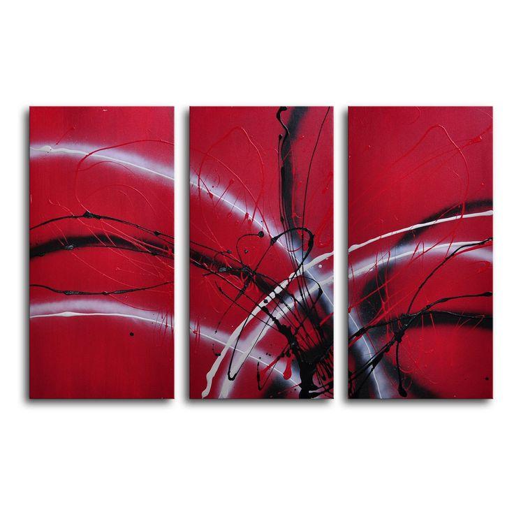 guitar hear oh 3piece canvas wall art 36w x 24h in