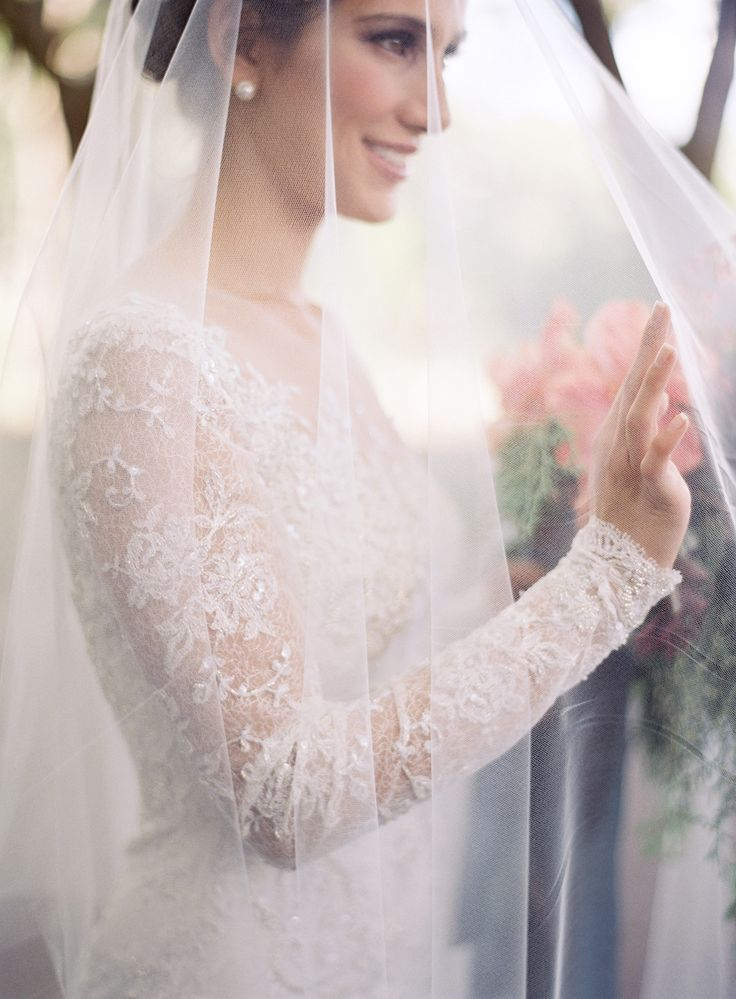 Long Sleeve Lace Wedding Gown: Mira Zwillinger -- Photography: Jose Villa Photography - josevillaphoto.com -- See more on #smp here: http://www.StyleMePretty.com/2014/04/09/wedding-day-inspiration-from-the-jose-villa-mexico-workshop/