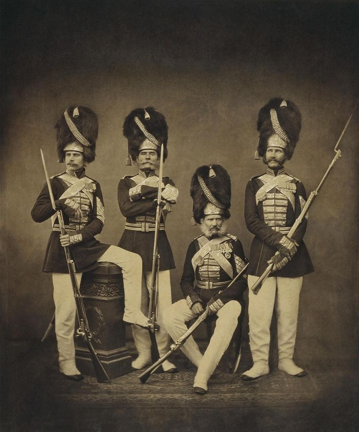 Портрет группы дворцовых гренадер