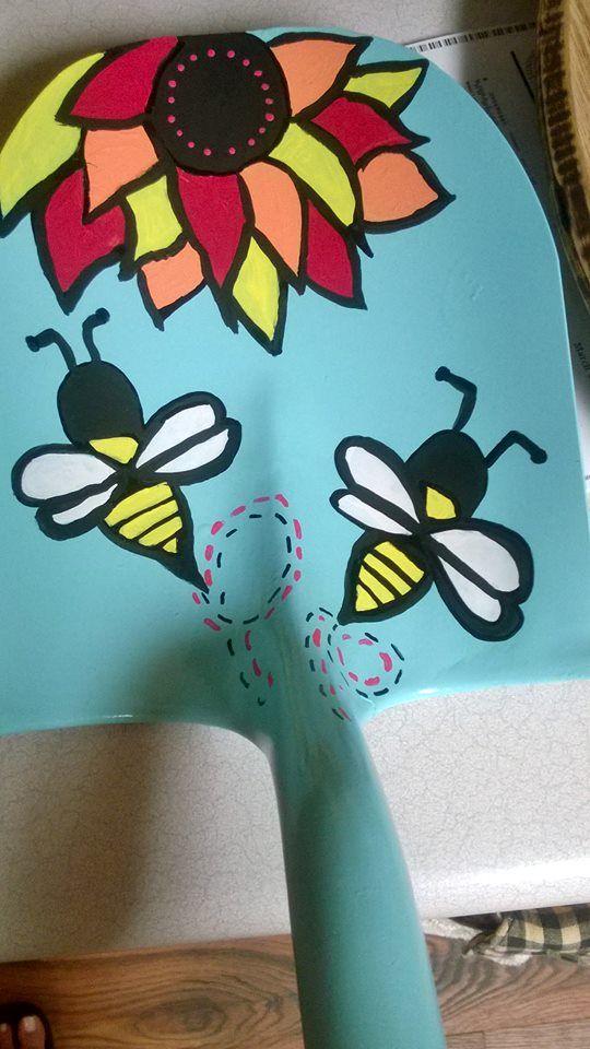 Painted Shovel Head