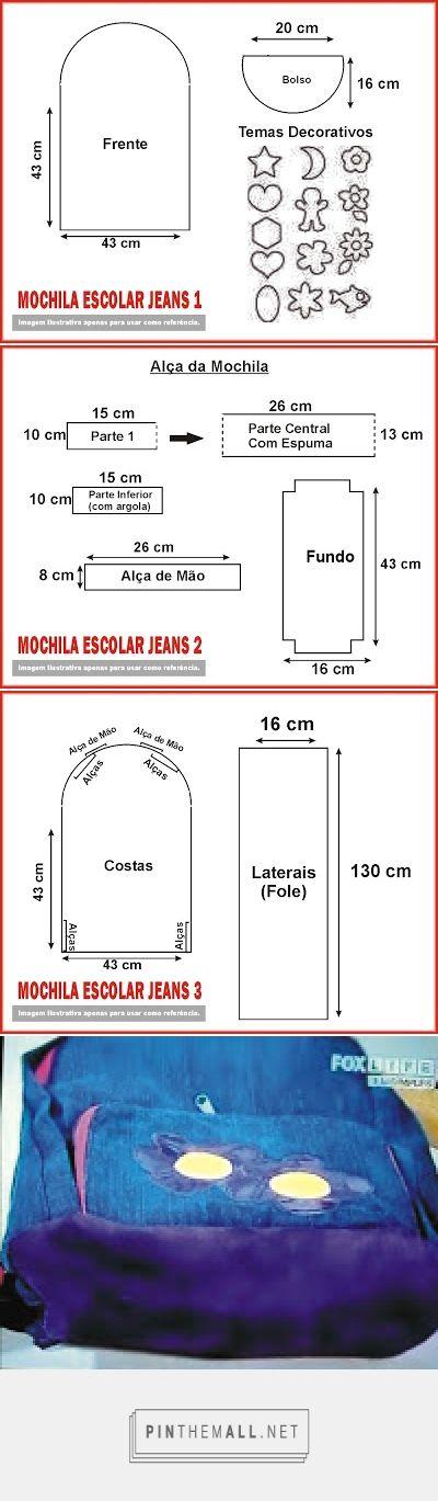 Zaino  Jeans riciclo - created via http://pinthemall.net