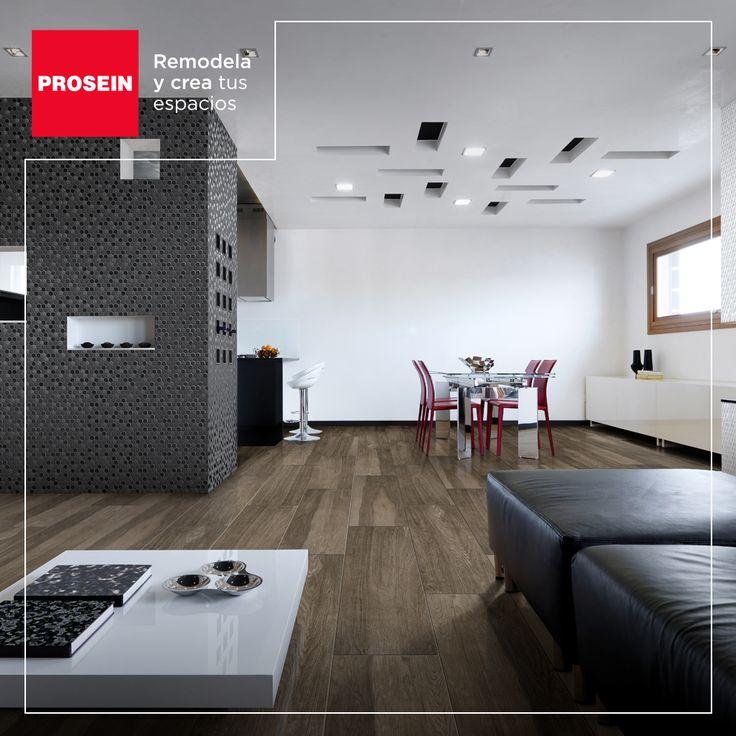 El negro, aplicado en pequeñas dosis, hará que tu sala de estar tenga un look moderno y distinguido.