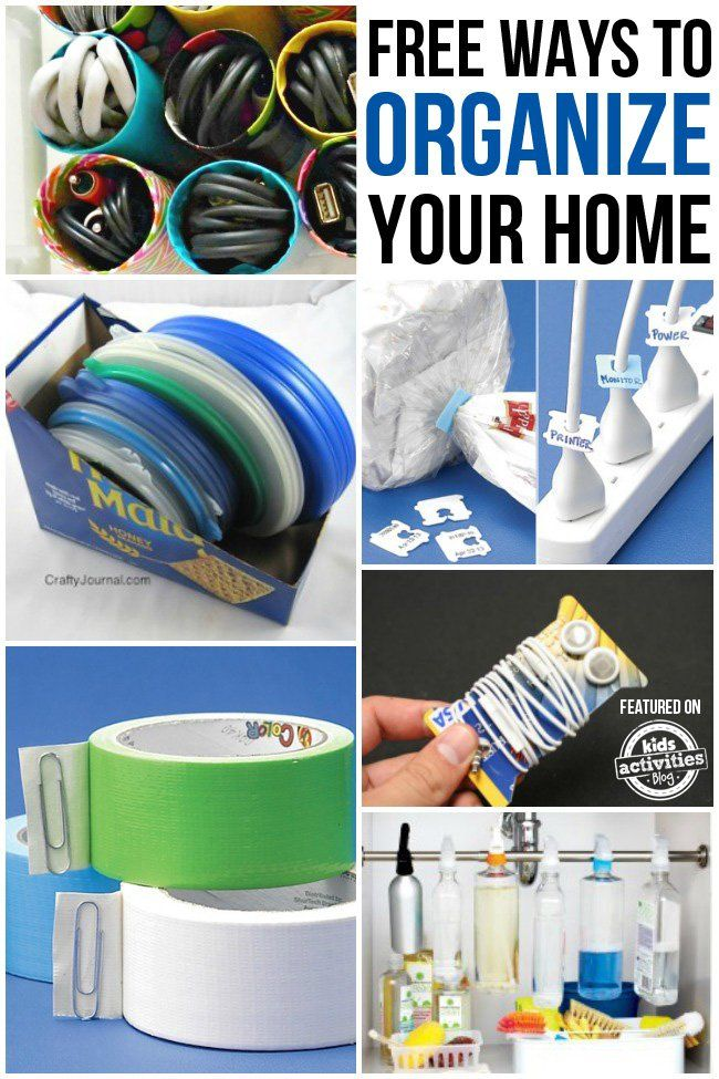 25 Free Ways to Organize Your Home
