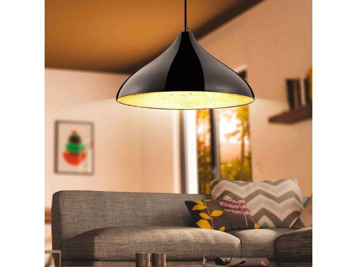Lampa sufitowa wisząca czarno/złota Ramses Trio