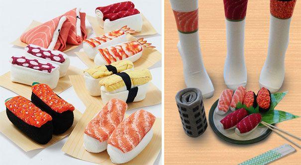15 chaussettes et collants originaux   15 chaussetttes et collants originaux chaussettes sushis 3