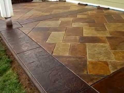 How To Acid Stain a Concrete Patio Floor - YouTube