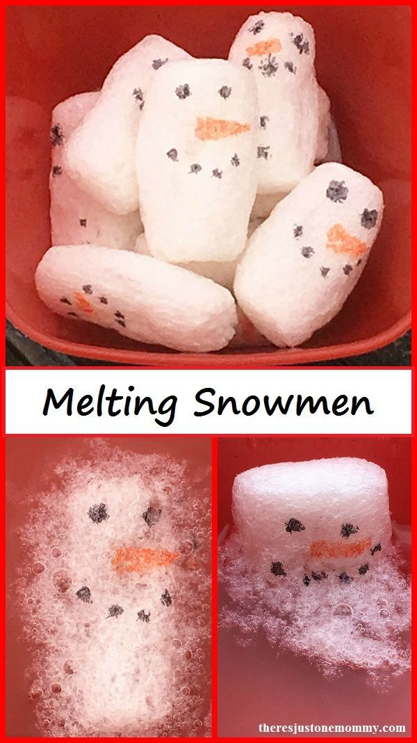 Melting Snowmen -- winter STEM activity using biodegradable packing peanuts