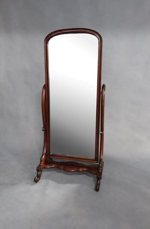 Solid Mahogany Wood Victorian Cheval Mirror MR-04