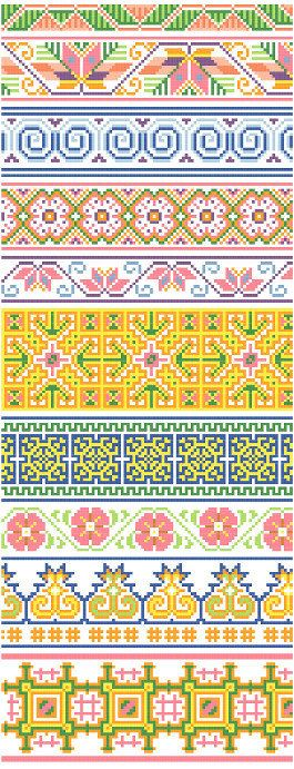 Hmong Inspired Borders 2 Cross Stitch Design by blackphoebedesigns