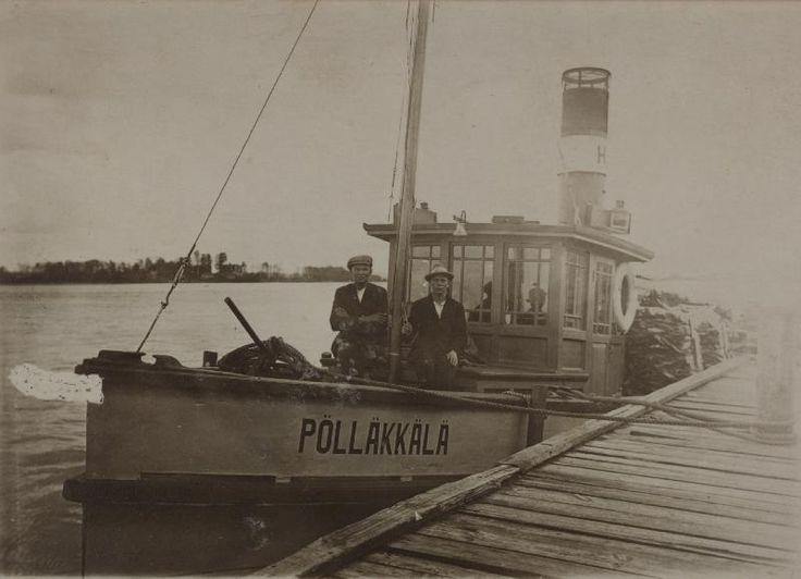 Pölläkkälä, Hackmanin arkisto #höyrylaivat #steamboat
