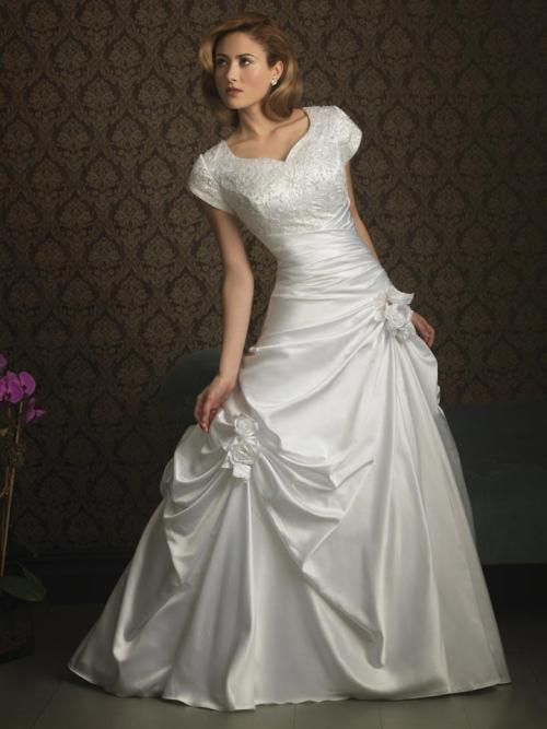 Mormon wedding dresses modest