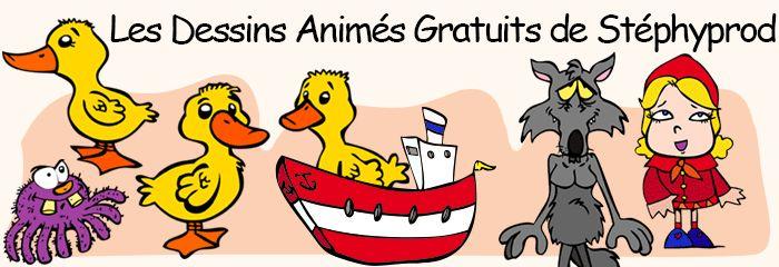 Tous les dessins animés gratuits de Stéphyprod à regarder avec les enfants et comptes, comptines, chansons...