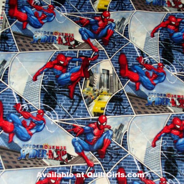 Spider-man City Block Web Fabric