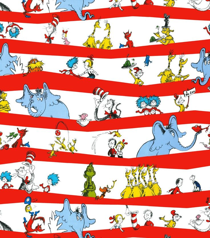 Dr. Seuss Stripe Fabric Cotton Fabric at Joann.com