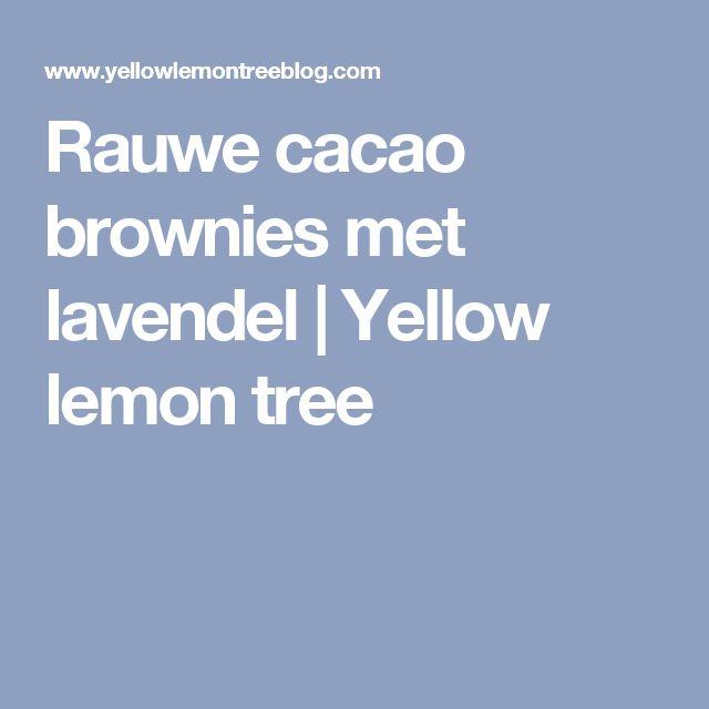 Rauwe cacao brownies met lavendel | Yellow lemon tree